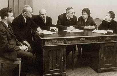 Кафедра альта и арфы Московской консерватории, 1966