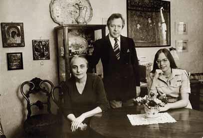 С Екатериной Сергеевной Дружининой (Шервинской) и дочерью Еленой