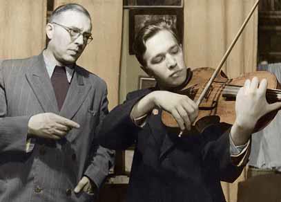 Ф. Дружинин и В.В. Борисовский, 1950-е годы