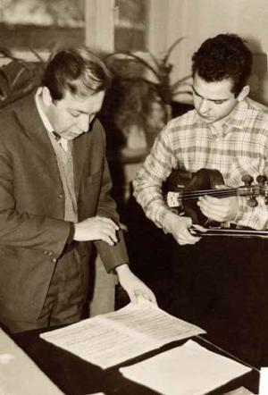 На уроке с  Александром Медведевым, 1964 (?)