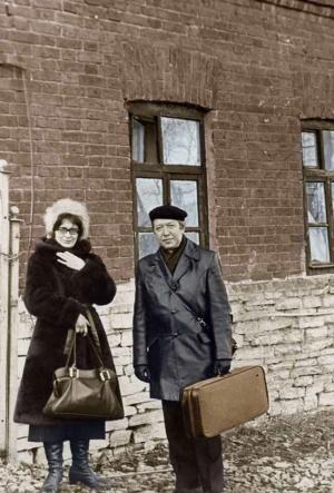 На гастролях с Л. Пантелеевой