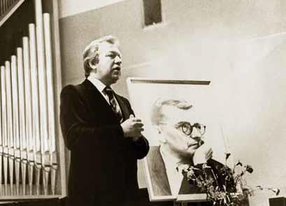На вечере, посвященном памяти Д. Д. Шостаковича